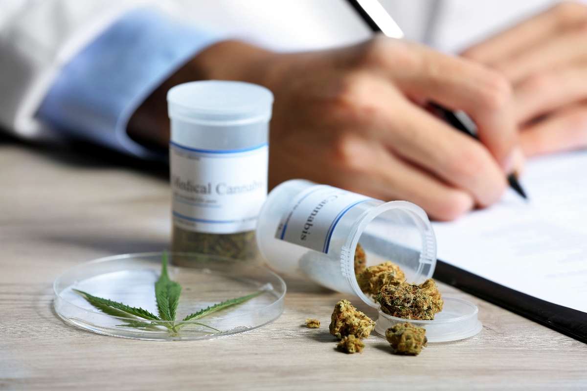 Medical Cannabis and man writing perscription-1